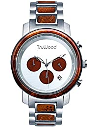 [(トゥルーウッド) TruWood ] [TruWood オデッセイクロノグラフウッドウォッチ Odyssey Chronograph Wooden Watch with Brown Wood for Men] (並行輸入品)