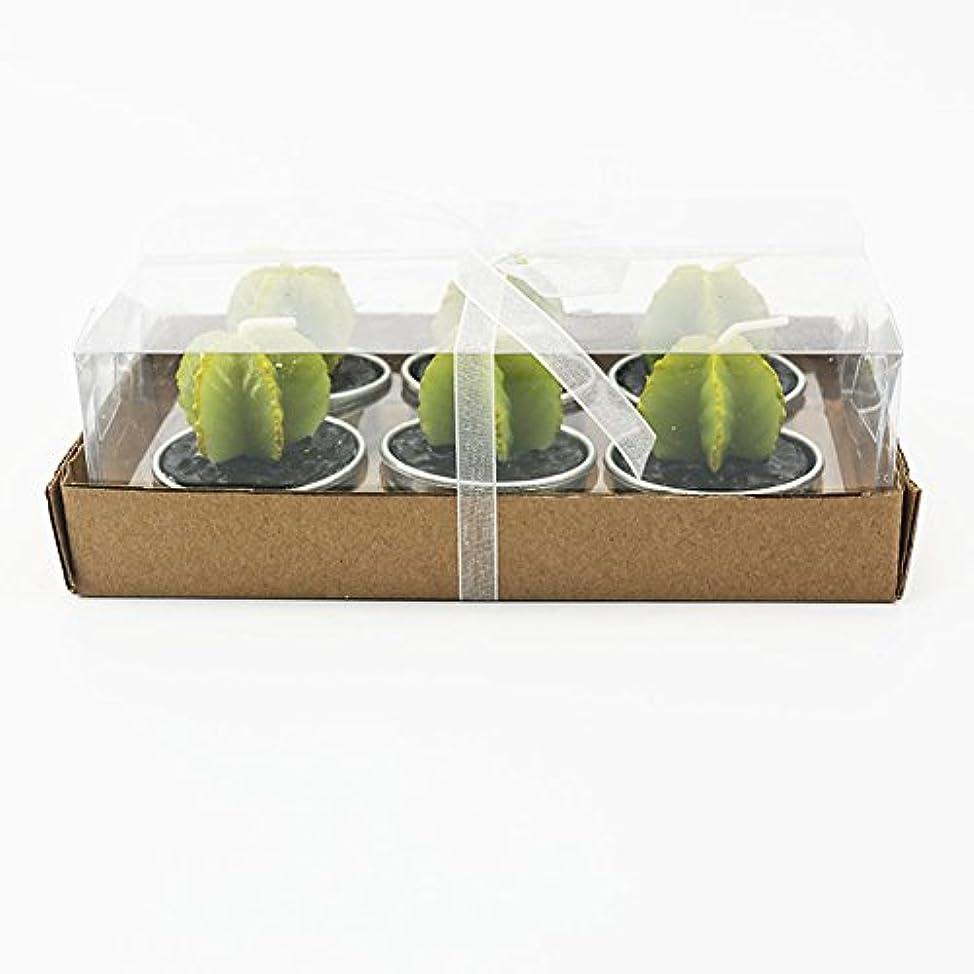 ガロン改修するばかげたLiebeye キャンドル 多肉植物スモークフリーのクリエイティブなキャンドル100%自然のワックスかわいい模造植物フルーツの形状低温キャンドル 6個/箱 ゴレンシボックス