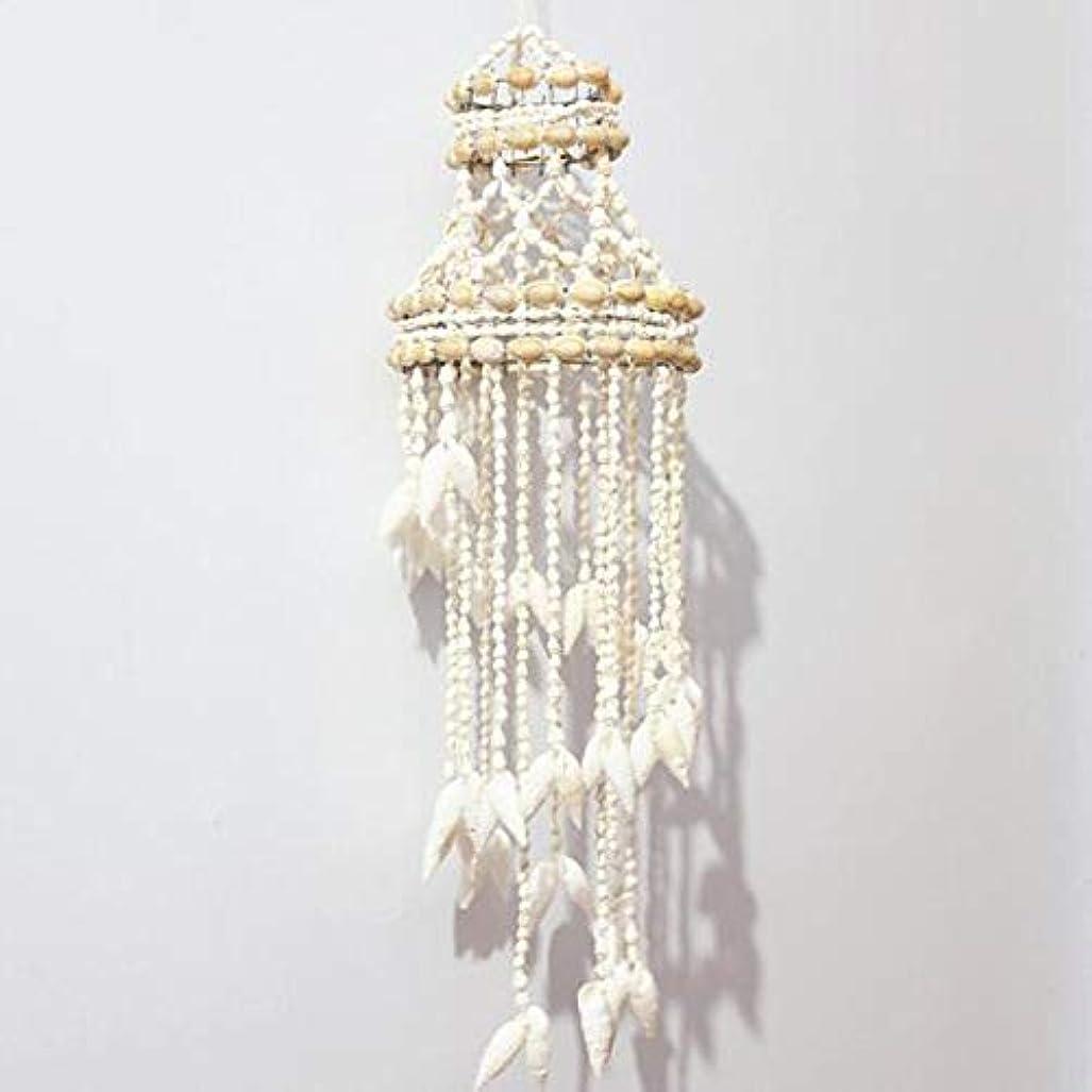 ウェイド上院議員続けるHongyushanghang 風チャイム、ナチュラル手作りシェル風の鐘、ホワイト、約長さ50cm,、ジュエリークリエイティブホリデーギフトを掛ける (Color : B)