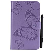 Samsung Galaxy Tab A 7.0 T280 Case, MrStar 新しい 男性用 Bumper Flip Cover-Purple