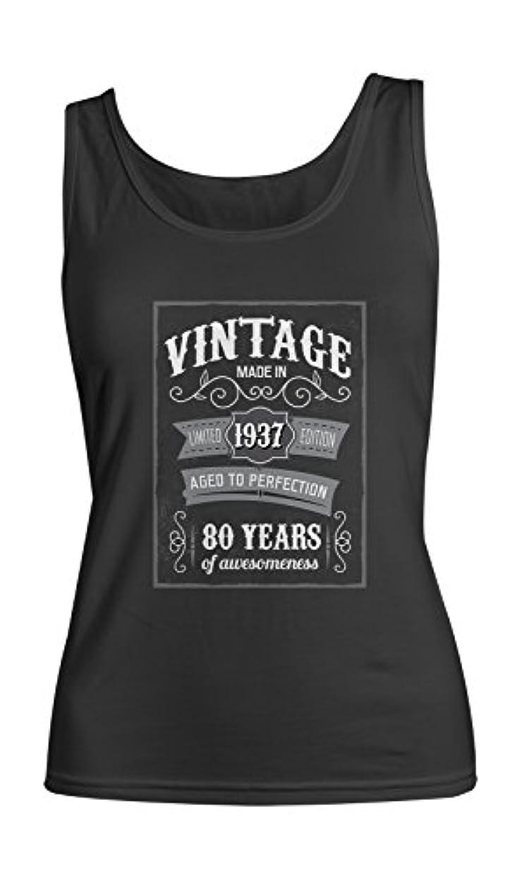 充電解明する統治可能Vintage Made In 1937 80 Years お誕生日 レディース Tank Top Sleeveless Shirt