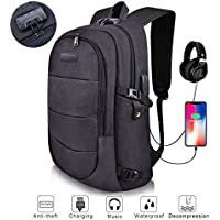 Laptop Backpack, MODAR Computer Bag, Anti Theft Backpack College Bag, Slim Business Backpack Fits for 15.6 inch Laptop USB Charging Port Backpack for Women&Men