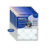 Filters fast プリーツエアフィルター 1インチ フィルター性能評価11 6個入りパック 12x22x1 12x22x1 6