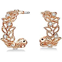 Mestige Rose Gold Filigree Earrings with Swarovski® Crystals (Rose Gold) Gifts Women Girls, Filigree Drop Stud Dangle-Earrings