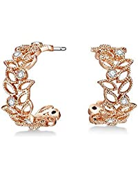 Mestige Rose Gold Filigree Earrings with Swarovski® Crystals (Rose Gold) Gifts Women Girls, Filigree Drop Stud Dangle-Earrings