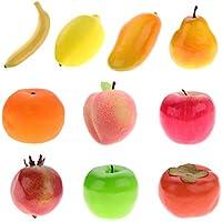 Homyl 10個 人工果物 装飾 鮮やかな色 ホーム テーブル 装飾 キッズ 子供 教育ツール