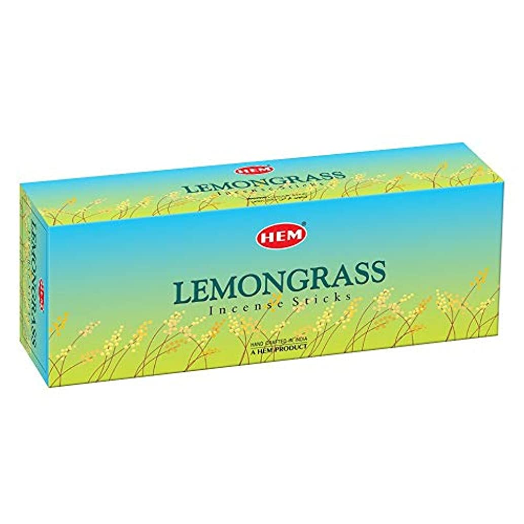 弱める在庫肺Hem Lemongrass Incense Sticks (9.3 cm X 6.0 cm X 25.5cm, Black)