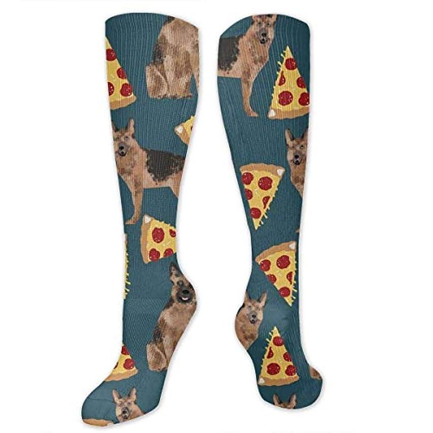 ネット未亡人外向き3 Dのジャーマンシェパードのピザのソックスは、女性の男性のためのソックスを運びます