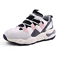 Women's Platform Shoes New 2019 Mesh Deck Shoes Sports Shoes Fashion Sneakers Lace Up Low-Top Casual Shoes,A,39