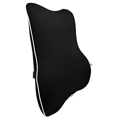 AEagle 新世代 腰痛 クッション 腰 固定用ひも付き 車 運転 シート クッション 低反発 腰痛防止 腰枕 椅子 ランバーサポート 背もたれクッション 車用品 腰当てクッション いす用 オフィスチェア メッシュ