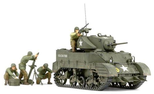 1/35 ミリタリーミニチュアシリーズ No.313 アメリカ軽戦車 M5A1 ヘッジホッグ 追撃作戦セット (人形4体付き) 35313