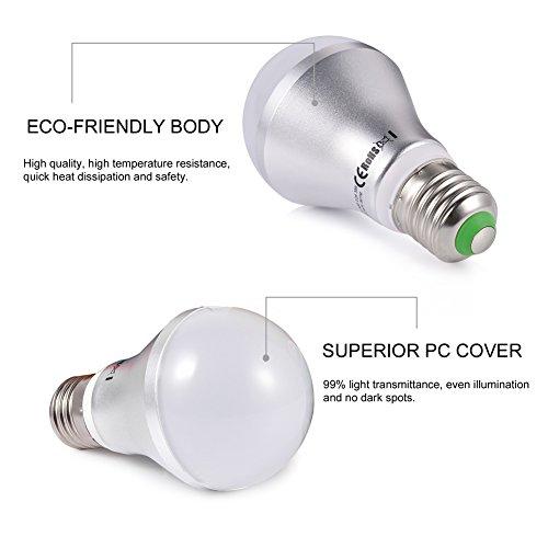 Ledgle LED調光調色電球 16色選択 リモコンセット 5W LED電球 E26口金 スマートLED電球 調色 調光可能 北欧 洋風 リモコン操作 専用リモコン付き 広角160度