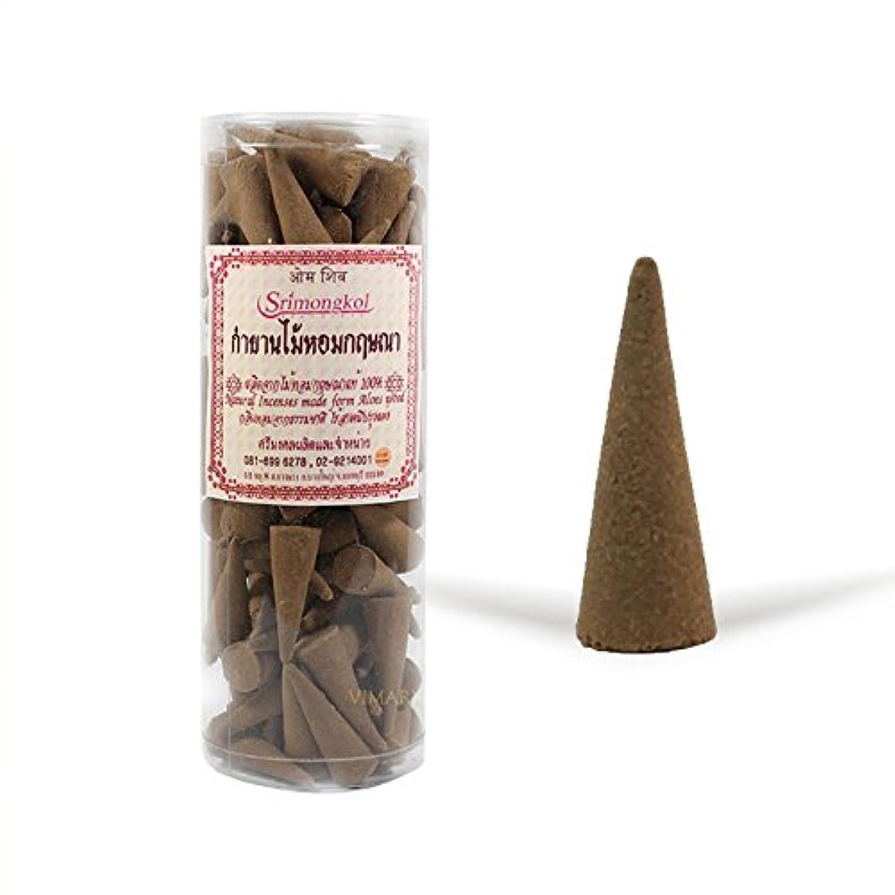 スペイン語故意にシンカンSrimongkol Agarwood Natural Incense Cones 300 Grams (No Chemical):::Srimongkol Agarwoodナチュラル香コーン300グラム(化学薬品なし)