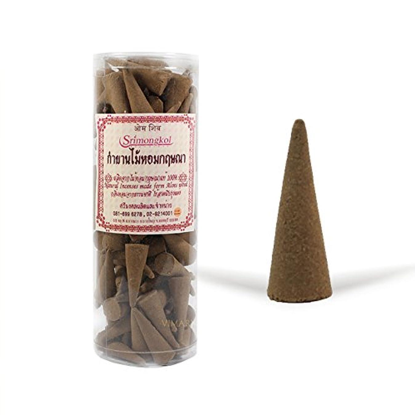 キャンドル高度な知恵Srimongkol Agarwood Natural Incense Cones 300 Grams (No Chemical):::Srimongkol Agarwoodナチュラル香コーン300グラム(化学薬品なし)
