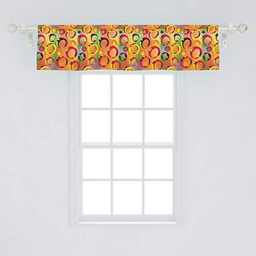 Ambesonne カラフルな窓用飾り布 3Dの鮮やかな色の...