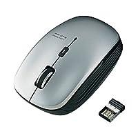 エレコム ワイヤレスLEDマウス M-BL21DBSV 灰 ds-1826487