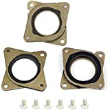 LEOWAY NEMA 17 Stepper Steel and Rubber Vibration Dampers with M3 Screw for Creality CR-10 10S 3D Printer CNC 3PCS