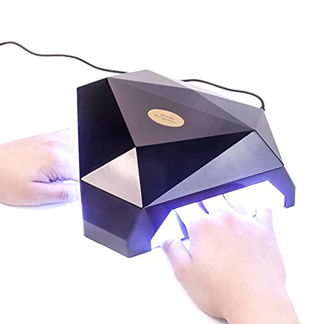 出くわす辞任する数学者60W 2手LED UVランプネイルドライヤージェルネイルランプ用ネイルジェルポリッシュ硬化機ネイルアートマニキュアツールギフト,黒