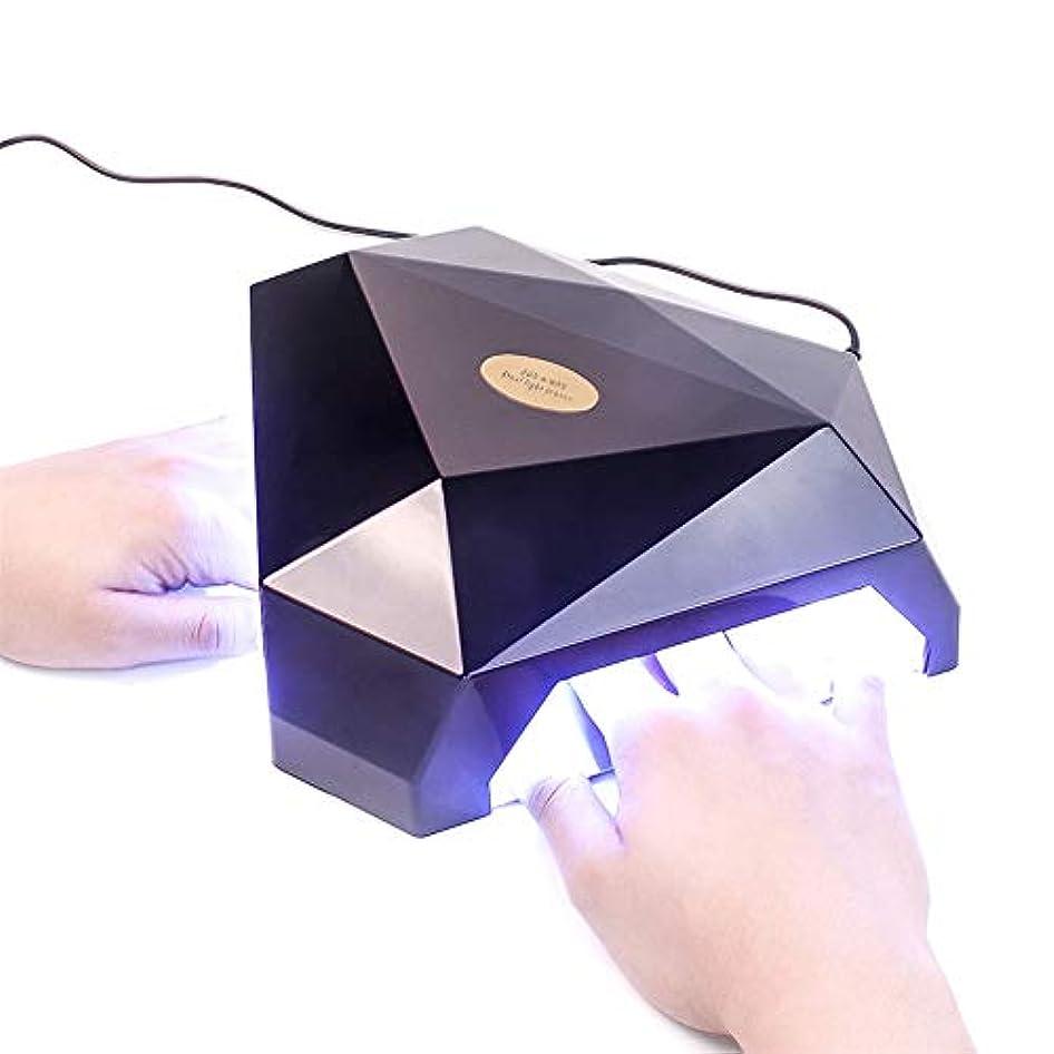 宮殿疾患マスク60W 2手LED UVランプネイルドライヤージェルネイルランプ用ネイルジェルポリッシュ硬化機ネイルアートマニキュアツールギフト,黒