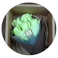 バレンタインデー母の日スモールブーケギフト石鹸フラワーギフトボックスクリエイティブ7永盛石鹸フラワーシミュレーションフラワー,フルーツグリーン7