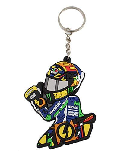 46 ROSSI バレンティーノ ロッシ VR46 ラバー キーホルダー キーリング Rubber keyRing keychain バックポーズ [並行輸入品]