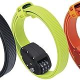 OTTOLOCK(オットロック) Cinch Steel & Kevlar Combination Lightweight Lock - Flash Green [Size: 46cm(18 Inch)]