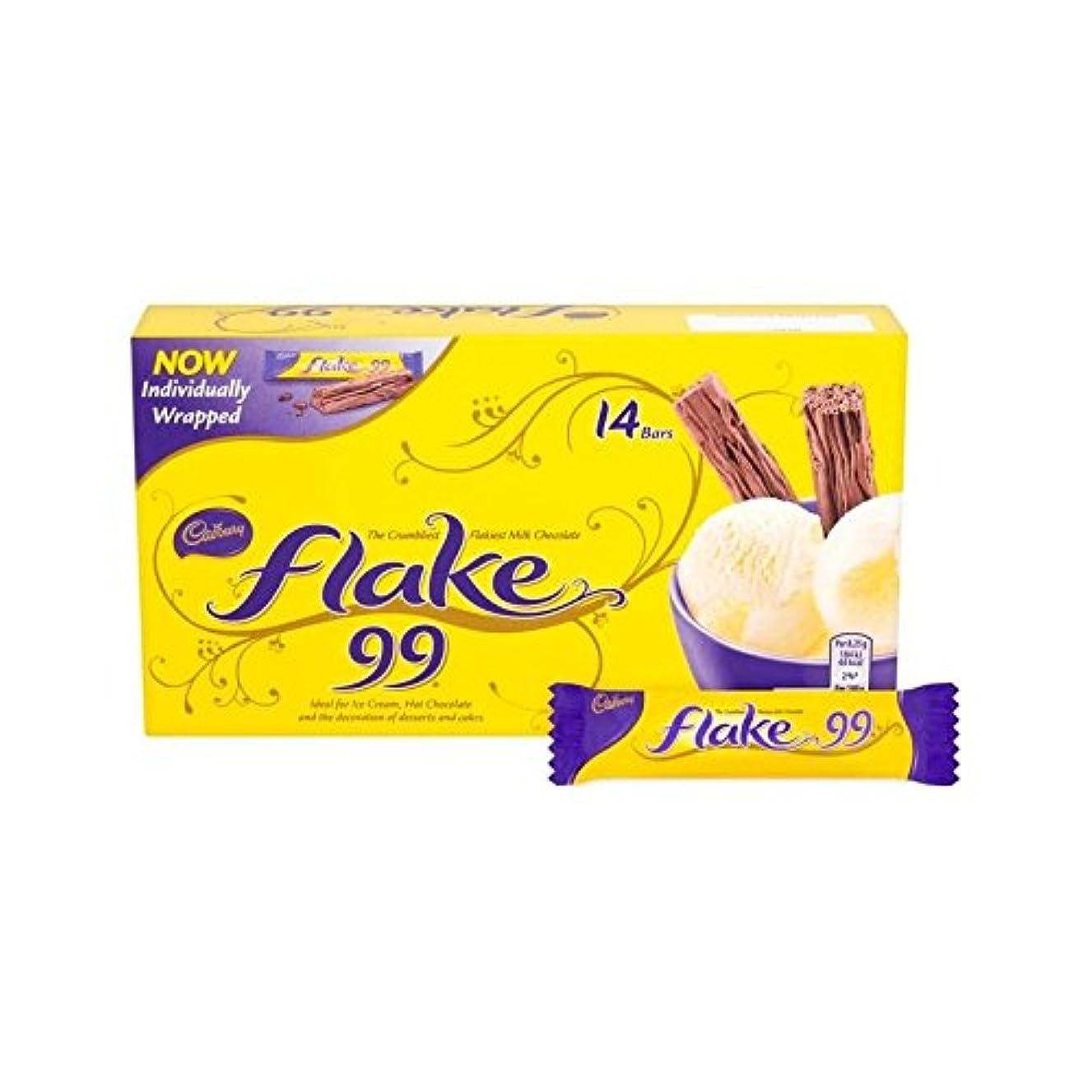 デクリメント収束する感染するフレーク99パック114グラムあたりのチョコレート14 (Cadbury) - Cadbury Flake 99 Chocolate 14 per pack 114g