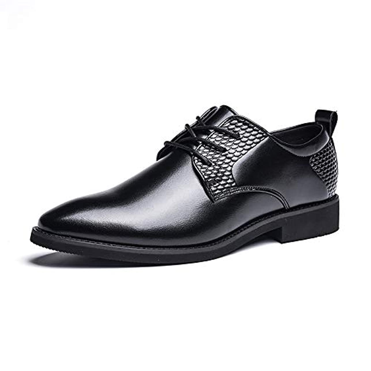 鑑定頼る副詞Sunny&Baby メンズビジネスオックスフォードカジュアルパーソナリティイギリススタイルの正式な靴 耐摩耗性 (Color : ブラック, サイズ : 26.5 CM)