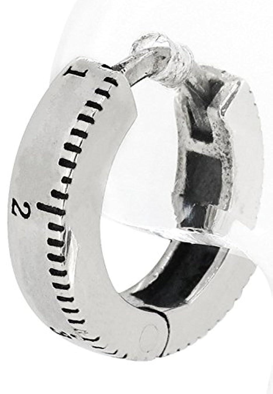 敏感な突然擬人化[ディーアンドディー] D and D メジャー柄 シルバー925 シンプル フープ ピアス (1P 片耳用) P1-161-01 人気 ブランド メンズ
