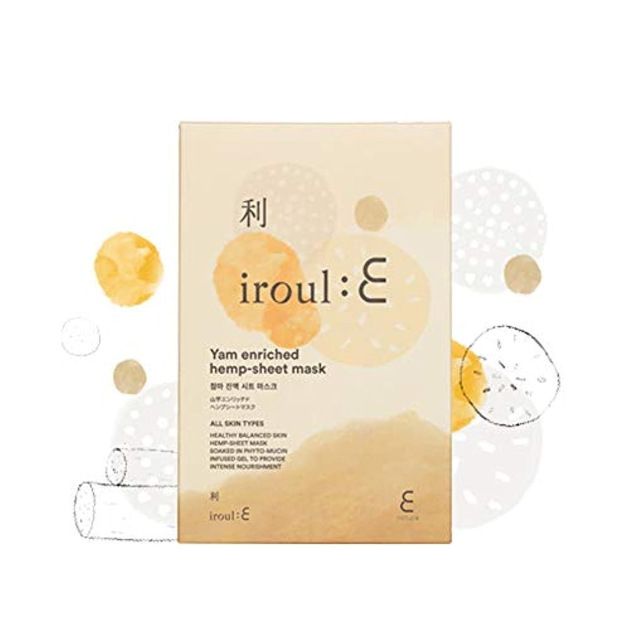 囲むミッションスペイン【ENATURE 日本公式サイト】 Iroul E 山芋エンリッチドヘンプシートマスク 35gx5枚 韓国コスメ スキンケア
