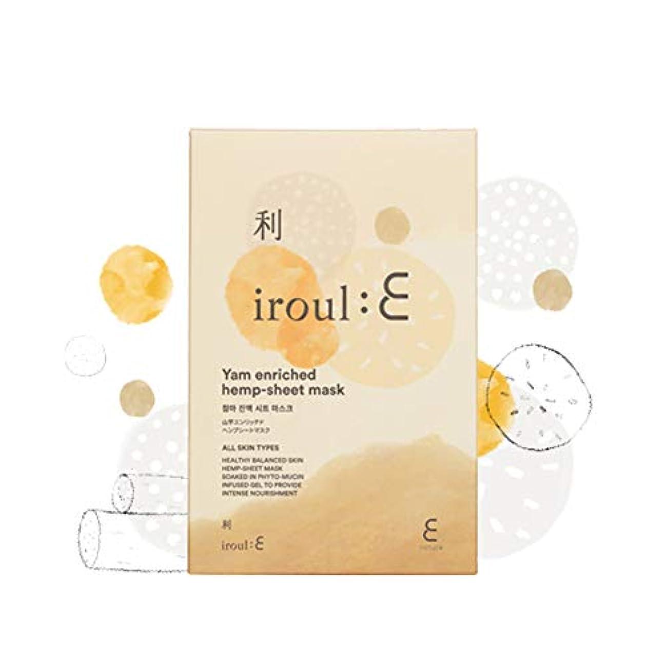 飲み込む枯渇匹敵します【ENATURE 日本公式サイト】 Iroul E 山芋エンリッチドヘンプシートマスク 35gx5枚 韓国コスメ スキンケア
