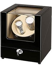 CRITIRON ワインディングマシーン 2本 ウォッチワインダー 木製 高級 時計自動巻き上げ機 静音 時計自動巻きマシーン 一年保証期間
