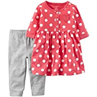 Carter's Baby Girls Cotton Dress & Legging Set Hearts (NB)