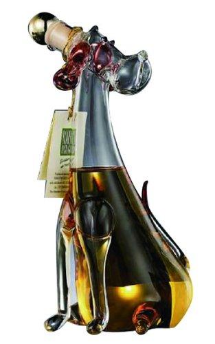イタリアベネチアングラスの 犬ボトル グラッパ