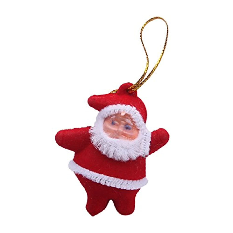 (ラボーグ)La vogue サンタクロース ストラップ クリスマスの飾り 小物 ミニ かわいい 携帯マスコット チャーム アクセサリー 4*5cm プレゼント ギフト クリスマスコスチューム 6個入れ