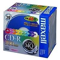(まとめ) マクセル データ用CD-R 700MB 48倍速 10色カラーMIX 5mmスリムケース CDR700S.MIX1P20S 1パック(20枚:各色2枚) 【×3セット】