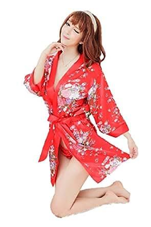和服コスプレ 3点セット (浴衣 ランジェリー) コスチューム フリーサイズ