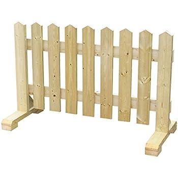 木製 ピケットフェンス -ナチュラル- 【受注製作品】 (幅120cm) 犬 目隠し 屋外 飛び出し防止 柵 ガード さく 木製フェンス