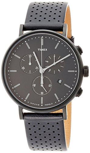 [タイメックス]TIMEX ウィークエンダーフェアフィールドクロノブラックレザーストラップ41㎜【国内正規品】 TW2R26800 【正規輸入品】