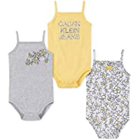 Calvin Klein Baby-Girls 3 Pieces Pack Bodysuits Rompers