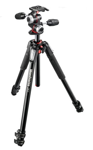 Manfrotto プロ三脚 055シリーズ アルミ 3段 + RC2付3W...