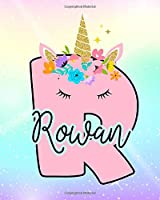Rowan: Girls Unicorn Journal to Write In | Personalized Journal