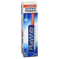 Plus White ホワイトニング+保護歯磨き、エクストラホワイトニングパワークール&さわやかなミント3.50オズ(2パック)