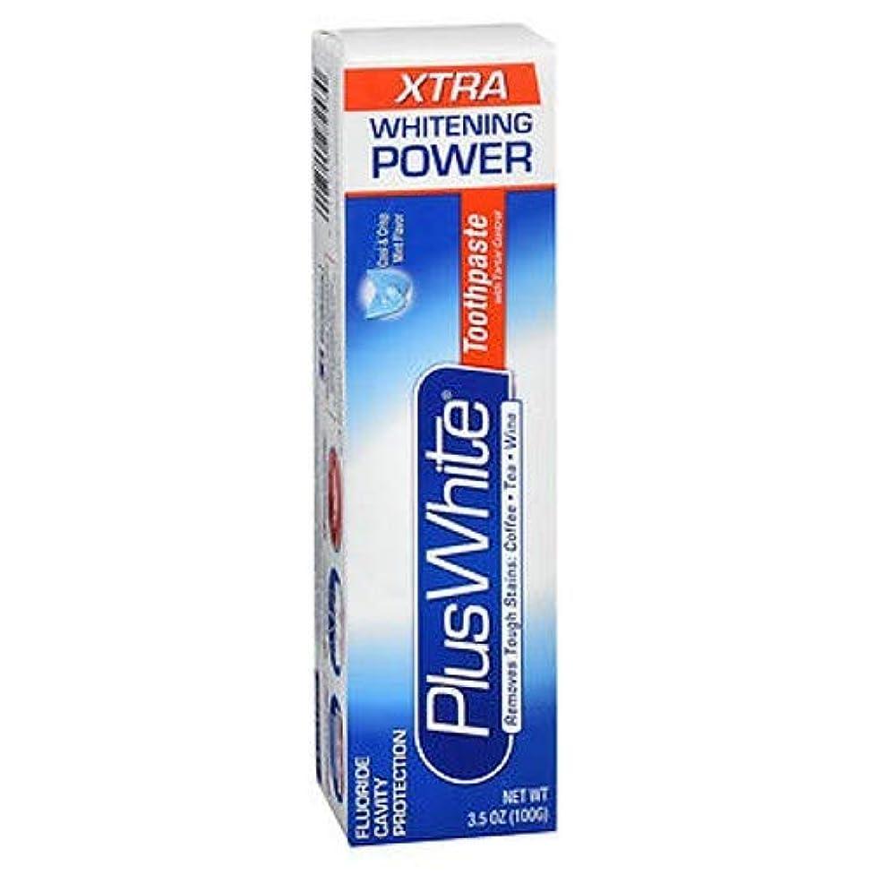 根絶する政治的味付け海外直送品Plus White Whitening Toothpaste, Extra Cool Mint 3.5 oz by Plus White