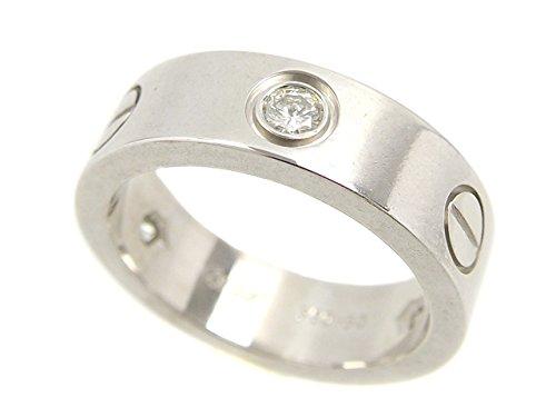 (カルティエ)Cartier K18WG ハーフダイヤモンド ラブ リング 11号 #50 8.9g 【中古】
