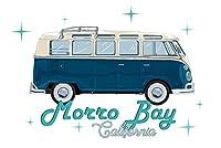 Morro Bay, California - キャンパーバン - レトロベクタースタイル 24 x 36 Giclee Print LANT-86360-24x36
