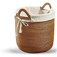 DCAH ストレージバスケット汚い服ストレージバスケットストレージ織物バケツランドリー籐バスルーム汚れた服バスケット Laundry basket (サイズ さいず : 45×45 cm 45×45 cm)