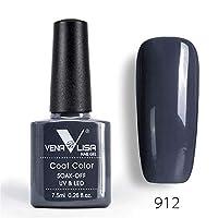 1 Glass Bottle Fashion Bling 7.5 ML Soak Off UV Gel Nail Gel Polish Cosmetics Nail Art Manicure Nails Gel Polish Shellak Nail Varnish (912)