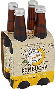 NEXBA ELDERFLOWER & Lemon Kombucha 330ML (24 Pack)