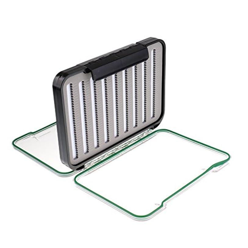 フィドル貸し手全体にFenteer フィッシングボックス ボックス 釣りボックス ダブルサイド 収納 耐久性 ポケット プラスチック製